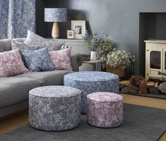Arla Floral Home Interiors Collection - Inspiration and Home Styling Floral interiors, lounge inspiration, home interior projects Dark Blue Walls, Personalised Christmas Cards, Bird Wallpaper, Fabric Birds, Bespoke Design, Interior Styling, Simple Designs, Fabric Design, Floral Design