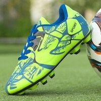 b9dd4520af72 2018 Size 33-44 Men Boy Kids Soccer Cleats Turf Football Soccer Shoes TF  Hard