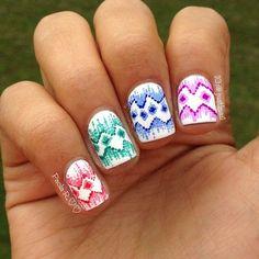 dotted ikat by just1nail #nail #nails #nailart