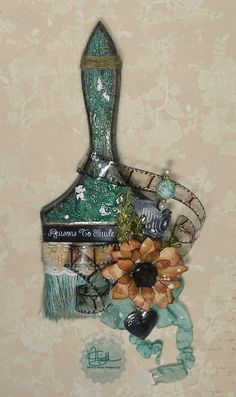 So, I have three paint brushes at home that I need to do this with. I love the idea.