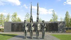 Cemitério Nacional no Memorial da Guarda de Honra da Força Aérea dos USA, em Arlington, Virgínia, USA. Bronze. Zenos Frudakis (São Francisco, Califórnia, USA, 1951 - ).