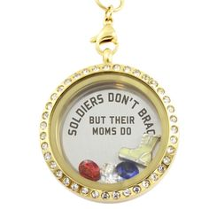 Soldier Moms Brag Charm Necklace