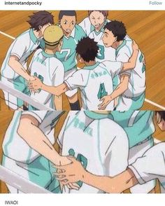 I bet u fukers iwa-chans hand is hovering 3 inches away from oikawas cuz he did something stupid again but iwa still low key wants some of that