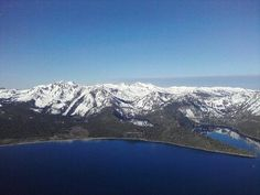 Cascade Lake and Emerald Bay, Lake Tahoe, as viewed from the Hot Air Balloon.
