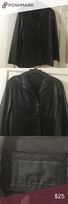Avanti of New York 3 button leather jacket. Beautiful soft leather jacket. Very classy. Longer with 3 buttons in front. Fully lined. No rips tears or marks. Avanti of New York Jackets & Coats Blazers