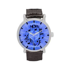 Black Musical Notes Wrist watch