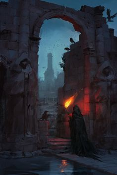 Imagen de fantasy art, memed, and the crow cult Dark Fantasy Art, Fantasy Concept Art, Fantasy Rpg, Medieval Fantasy, Fantasy Artwork, Fantasy World, Dark Art, Georg Christoph Lichtenberg, Dance Of Death