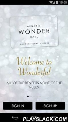 Arnotts Wonder Card  Android App - playslack.com , The Arnotts Wonder app is the official mobile app for the Arnotts Department Store Wonder Card loyalty programme.App users can earn and spend points at any time of purchase, as well as view their loyalty points balance, account details and challenge themselves with the Wonder Quiz with a chance to win top prizes from Arnotts. The Wonder Quiz changes each season and will feature a grand prize to the value of €5000 along with two subsequent…