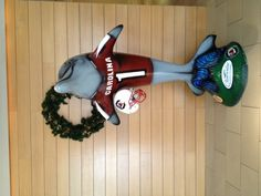 Handsome dolphin made for the #SouthCarolina #Gamecocks, participants in 2012 @Outback Steakhouse Bowl.  May be seen at Clearwater Public Library.  Artist:  Robert Daltry