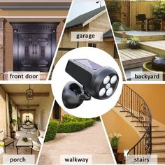 Bright Solar Powered Motion Sensor Security Light Waterproof Flood Light Bcway solar light provide illumination and security to your garage, pat Solar Energy, Solar Power, Home Technology, Light Sensor, Solar Lights, Outdoor Lighting, Outdoor Gardens, Cool Things To Buy, Home And Garden