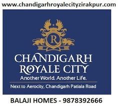 Chandigarh Royale City plots 200,250,350 sq.yds. Zirakpur Near Aerocity.  200 ACRES MEGA TOWNSHIP GOVT. APPROVED.