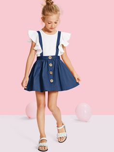 Girls Button Up Pinafore Skirt - Stage Vintage Bachlorette Ideas Lole Boutique Killstar Revolve Party Baby Acronym Lalarue Bape Maternity Liz Claiborne Hurley Inuit Hygge Little Girl Outfits, Cute Girl Outfits, Cute Outfits For Kids, Cute Hairstyles For Kids, Cute Girl Dresses, Cute Young Girl, Frocks For Girls, Kids Fashion, Fashion Women
