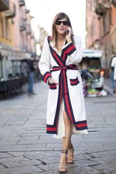 Long Knit Cardigan - The Street Style at Milan Fashion Week Was Seriously Chic - Photos