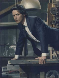 James McAvoy-interesting pose choice...