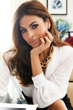 "Exclusive: Eva Mendes On Her New Line (And ""Crazy"" Eyebrow) #refinery29  http://www.refinery29.com/2013/09/53832/eva-mendes-interview#slide-6"