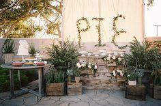Pie dessert table | Southern California wedding | Photo by Braedon Flynn | Read more - http://www.100layercake.com/blog/?p=67357