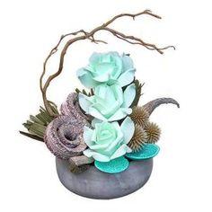Asztaldísz kosszarvval Floral, Flowers, Royal Icing Flowers, Flower, Flower, Florals, Blossoms