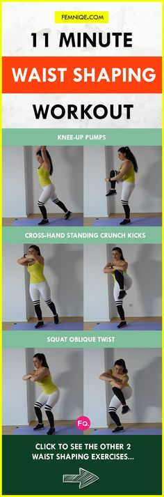 In this tiny waist workout you won't have to hit the floor. Each exercise involves you standing therefore you'll end up burning a lot more calories.  This small waist routine can be done anywhere which makes it perfect for those who love to exercise at home.  The routine consist of five exercises that combines HIIT and full body exercises.