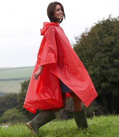 v cheap but still looks stylish in the pic - why am i suspicious? Red or Silver - splashmac rain poncho