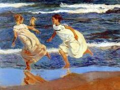 sorolla Joaquin, corriendo por la playa