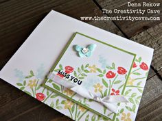 Stampin Up's Number of Years stamp set makes a BEAUTIFUL and simple card perfect for spring! Video tutorial on my blog!