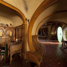 Bag End / Hobbiton / The Shire From The Hobbit Casa Dos Hobbits, Future House, My House, House Inside, Storybook Homes, An Unexpected Journey, Bilbo Baggins, Thorin Oakenshield, Underground Homes
