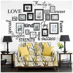 Beautiful Photo Wall Collage! Will use this idea for our wedding and engagement pics!