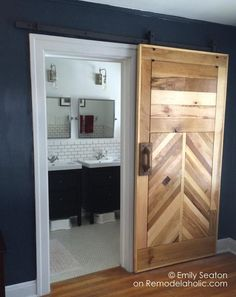Diy Barn Door Plans, Sliding Door Hardware, Sliding Barn Door Hardware, Diy Sliding Door, Bifold Barn Doors, Making Barn Doors, Building A Barn Door, Barn Door In House, House Doors