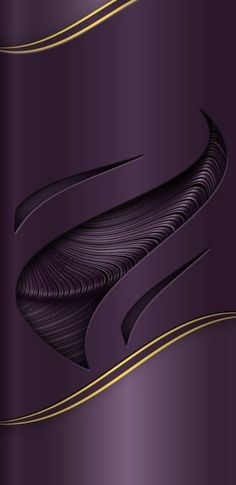 Purple with Gold Trim Wallpaper