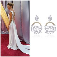 Swooning over these incredible oversized @Forevermark diamond earrings set in 18k White and Rose Gold worn by E! Red Carpet Host Giuliana Rancic at the 2016 Oscars Awards. #ShopIDC