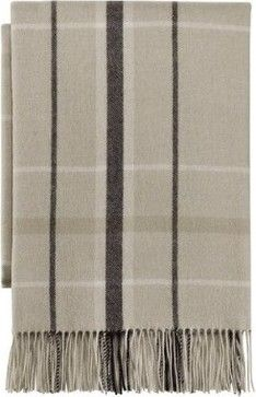 Thomas O Brien Vintage Modern Menswear Cashmere Wool Throw
