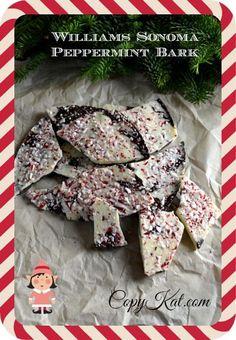 Williams Sonoma Peppermint Bark