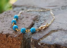 Five Smooth Stones Bracelet by TheseJoyfulAches on Etsy