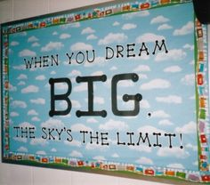 Elementary Classroom Bulletin Boards   ... sky-is-the-limit-elementary-classroom-bulletin-board-idea-494x436.jpg