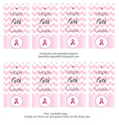 Breast Cancer Awareness {free} printables