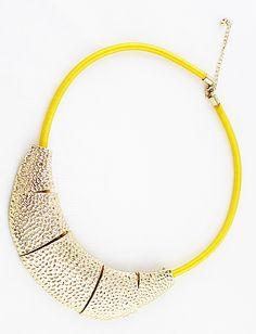 #SheInside Yellow Glod Collar Necklace - Sheinside.com