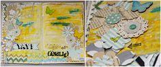 Art Journal-Seite von Martina für den #MixedMediaMontag auf www.danipeuss.de