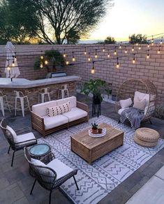 Budget Patio, Patio Diy, Outdoor Patio Designs, Small Backyard Patio, Small Backyard Design, Outdoor Decor, Patio Ideas, Patio Table, Backyard Ideas