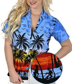 SUMMER DAY LUAU PARTY SHORT SLEEVES CRUISE SPORTS CASUAL SHIRTS 999 B_Blue XL. Do YOU want blouse in other colors Like Red | Pink | Orange | Violet | Purple | Yellow | Green | Turquoise | Blue | Teal | Black | Grey | White | Maroon | Brown | Mustard | Navy ,Please click on BRAND NAME LA LEELA above TITLE OR Search for LA LEELA in Search Bar of Amazon To get COMFORTABLE FIT and Right SIZE FOR YOU, request you to view SIZE CHART See LA LEELA's SIZE IMAGE in Product Image on the left. SAVE…