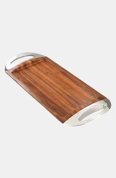 'Grande' Wood Tray available   Nambé via  Nordstrom