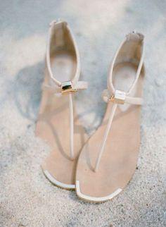 4afa6f923 50 Beach Wedding Sandals And Foot Jewelry Ideas
