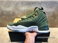 b5947266b072 WY Air Jordan 12 CClass Of 2003 Paul C Olive Green Gold Buckle Suede Size  130690-301 Discount