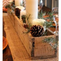 Christmas DIY: 50 Christmas Table D 50 Christmas Table Decoration Ideas Settings And Centerpieces For Christmas Table Noel Christmas, Christmas Projects, All Things Christmas, Winter Christmas, Holiday Crafts, Cowboy Christmas, Christmas Vacation, Christmas Movies, Christmas Christmas