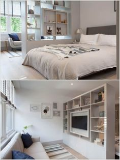 17 ideas for decorating small apartments tiny spaces - Divider ideas for studio apartments ...