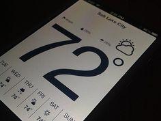 Nice calendar and weather report design