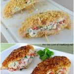 Panko Crusted Chicken Stuffed with Ricotta, Spinach, Tomatoes, and ...
