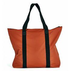 RAINS Tote Bag Rust (4.165 RUB) ❤ liked on Polyvore featuring bags, handbags, tote bags, handbags totes, tote bag purse, tote hand bags, handbags tote bags and carryall tote
