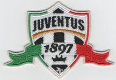 SCUDETTO ITALIA JUVENTUS 1897 TOPPA PATCH CON FASCIA TRICOLORE.