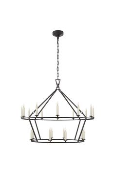 Darlana Large Two-Tiered Ring Chandelier  40x33 dining table option