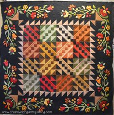 Jacob's Garden, pattern by The Rabbit Factory, quilted by Karen Marchetti | Creative Longarm Quilting